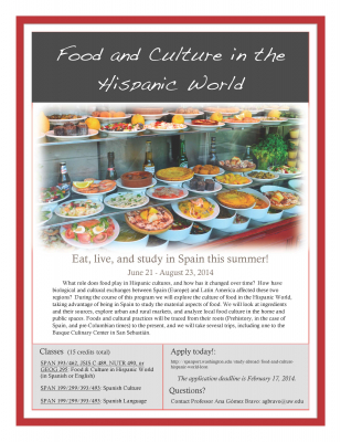 Info Session Food And Culture In The Hispanic World León Spain