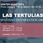 Winter Quarter Spanish Conversation Groups, Thursday 1:30 Loew 114
