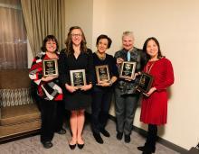Maria Gillman with 2019 WAFLT award winners