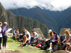 Students at Machu Picchu