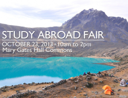 Study Abroad Fair poster