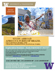 Afro-Cultures of Brazil Flyer