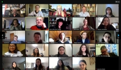 Some of the Attendees via Zoom at Crossroads Bilingual Poetry Reading