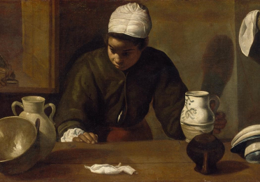 """Kitchen Maid"" by Diego Velázquez"