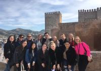 Spring 2019 Cadiz Study Aborad Students at Alhambra