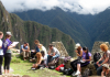 Students at Machu Picchu