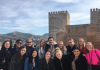 Spring 2019 Cadiz Study Aborad Students at Alhambra