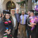Phillip Markley (second from left) with some 2017 MIT graduates, friends and family.